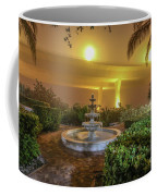 Foggy Fountain And Bridge Coffee Mug by Tom Claud