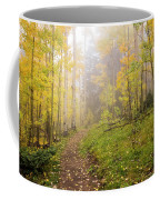 Foggy Winsor Trail Aspens In Autumn 2 - Santa Fe National Forest New Mexico Coffee Mug