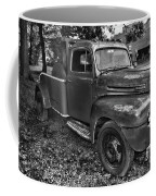 Ford F4 Tow The Truck Hook And Book Black And White Coffee Mug
