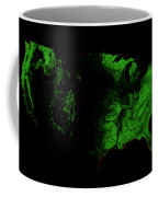 Forest Cover Map Of The Us Coffee Mug