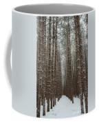 Forest In Sleeping Bear Dunes In January Coffee Mug