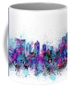 Fort Worth Skyline Color Splatter Coffee Mug