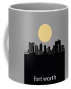 Fort Worth Skyline Minimalism Grey Coffee Mug