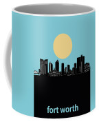 Fort Worth Skyline Minimalsim Blue Coffee Mug