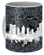 Fort Worth Skyline Music Sheet 2 Coffee Mug