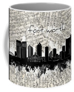 Fort Worth Skyline Music Sheet Coffee Mug