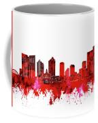 Fort Worth Skyline Red Coffee Mug
