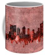Fort Worth Skyline Vintage Red Coffee Mug