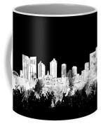 Fort Worth Skyline Watercolor Black And White 2 Coffee Mug