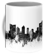 Fort Worth Skyline Watercolor Black And White Coffee Mug
