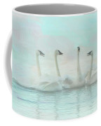 Four Swans Watercolor Group Coffee Mug by Patti Deters