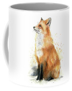 Fox Watercolor Coffee Mug