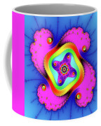 Fractal Art With Bold Colors Square Coffee Mug