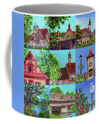 Frankenmuth Downtown Michigan Painting Collage V Coffee Mug