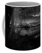 Full Moon Behind The Clouds Coffee Mug