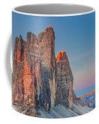 Full Moon Morning On Tre Cime Di Lavaredo Coffee Mug by Dmytro Korol