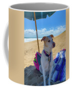 Fun Doggie Day At The Beach Coffee Mug by Lora J Wilson