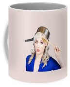 Funny Pin Up Housewife Saluting For Cooking Duties Coffee Mug