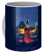 Galata Tower And Suleymaniye Mosque Coffee Mug