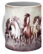 Galloping Horses Magnificent Seven Coffee Mug