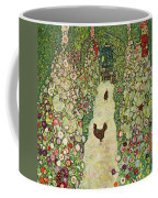 Garden With Chickens, 1916 Coffee Mug