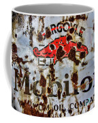 Gargoyle Mobiloil Vacuum Oil Co Rusty Sign Coffee Mug