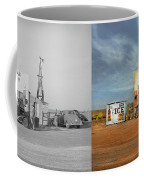 Gas Station - In The Middle Of Nowhere 1940 - Side By Side Coffee Mug