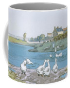 Geese By The River Loing 04 Coffee Mug