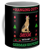 German Shepherd Ugly Christmas Sweater Xmas Gift Coffee Mug
