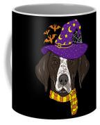 German Shorthair Halloween Witch Hat Flying Bats Coffee Mug