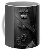 German Soldier Ww2 Black And White Coffee Mug