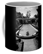 Getty Villa Massive Pool Black White Landscape  Coffee Mug