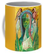 Girl In A Garden Coffee Mug