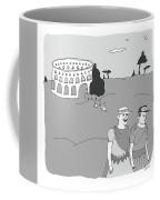 Gladiators And Lions Coffee Mug
