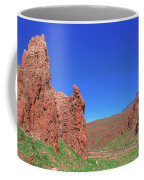 Glowing Red Rocks In The Teide National Park Coffee Mug