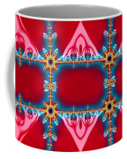 Gods Love And Mercy Is Infinite Fractal Abstract Hearts Coffee Mug by Rose Santuci-Sofranko