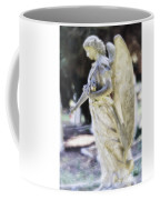 Golden Angel With Pink Rose Coffee Mug