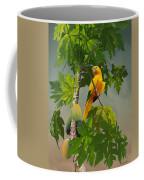 Golden Parakeet In Papaya Tree Coffee Mug