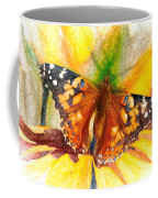 Gorgeous Painted Lady Butterfly Coffee Mug by Don Northup