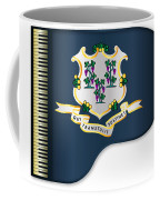 Grand Piano Connnecticut Flag Coffee Mug