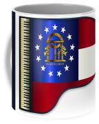 Grand Piano Georgia Flag Coffee Mug