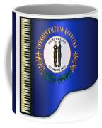 Grand Piano Kentucky Flag Coffee Mug
