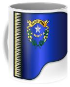 Grand Piano Nevada Flag Coffee Mug