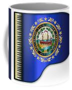 Grand Piano New Hampshire Flag Coffee Mug