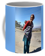 Grandchild And Grandmother Shimla Himachal Pradesh Coffee Mug