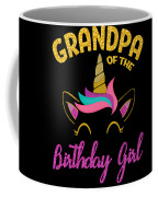 Grandpa Of The Unicorn Birthday Girl Coffee Mug