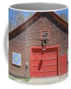 Grantham Barn With Quilt Squares Coffee Mug