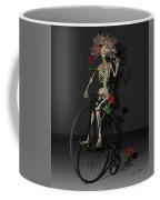 Grateful Penny Farthing Skeleton Coffee Mug