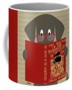 Gray Dog Reading Coffee Mug by Donna Mibus
