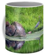 Great Blue Heron Fishing Coffee Mug